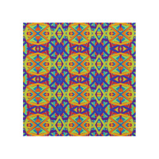 Bright Colors Fun Pattern Wood Wall Art