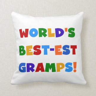 Bright Colors World's Best Gramps Gifts Cushion