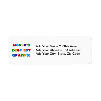 Bright Colors World's Best Gramps Gifts Return Address Label