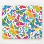 Bright colourful butterflies mousepad