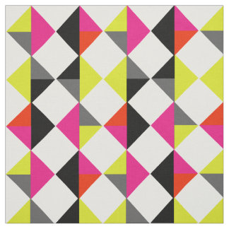 Bright Colourful Modern Geometric Diamond Fabric