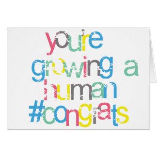 Bright Congratulations you are pregnant Card
