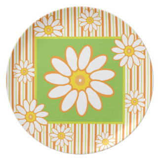 Bright Daisies Spring is Here Retro 1950s Picnic Party Plates