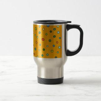 Bright Dots on Orange Stainless Steel Travel Mug