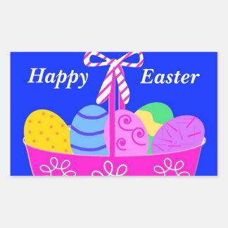 Bright Easter Basket Drawing Rectangular Sticker