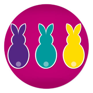 Bright Easter Bunny Silhouette Card