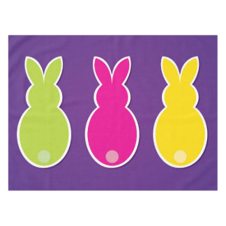 Bright Easter Bunny Silhouette Tablecloth