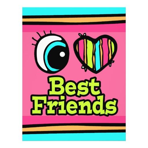 Bright Eye Heart I Love Best Friends Custom Flyer