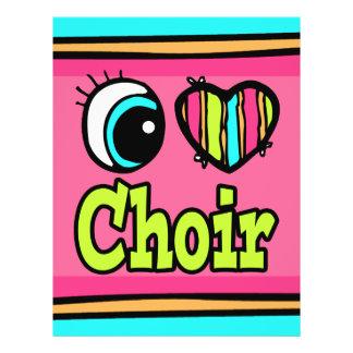 Bright Eye Heart I Love Choir 21.5 Cm X 28 Cm Flyer