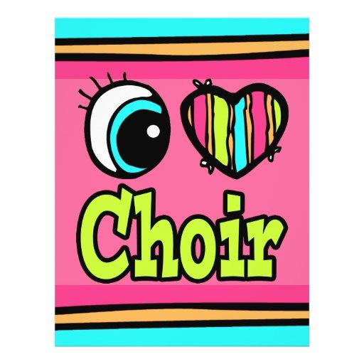 Bright Eye Heart I Love Choir Full Color Flyer