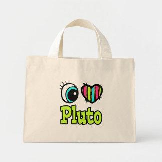 Bright Eye Heart I Love Pluto Mini Tote Bag