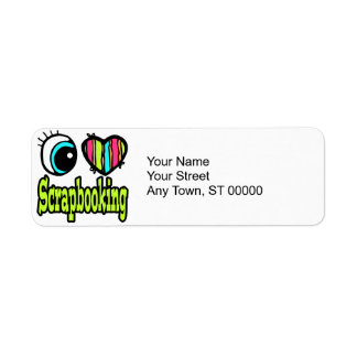 Bright Eye Heart I Love Scrapbooking Return Address Label