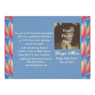 Bright Fire Flames Graduation Photo Ready 14 Cm X 19 Cm Invitation Card