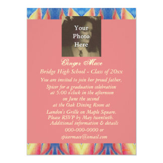 Bright Fire Flames Graduation Photo Ready Personalized Announcement