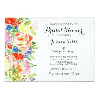 Bright Floral Bridal shower Invitation
