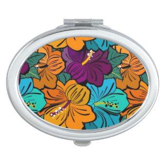 """Bright Floral"" compact mirror"