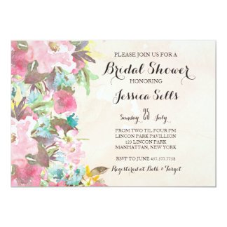 Bright Floral Invitation
