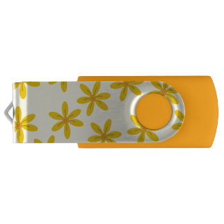 Bright Flower Yellow USB USB Flash Drive