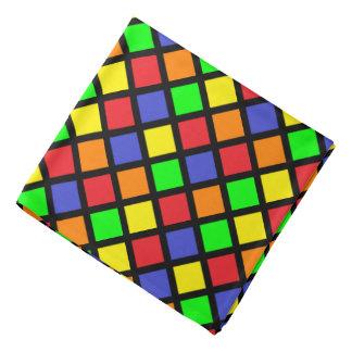 Bright geometric squares bandana