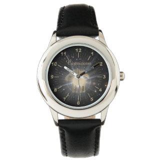 Bright golden Capricorn Watch