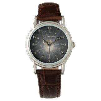 Bright golden Gemini Watch