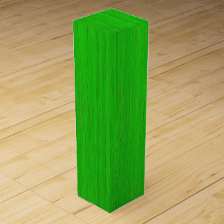 Bright Green Bamboo Wood Grain Look Wine Gift Box