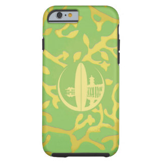 Bright Green & Yellow Coral Tough iPhone 6 Case