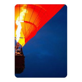 Bright Hot Air Balloon Flame Card