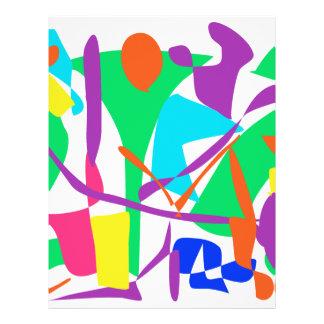 Bright Irregular Forms Flyer Design