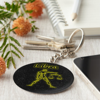 Bright Libra Key Ring