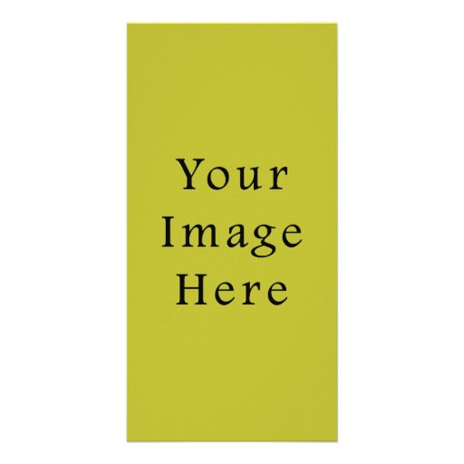 Bright Lime Green Color Trend Blank Template Photo Greeting Card
