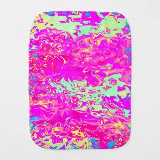 Bright Marbleized Colors Design on Burp Cloth