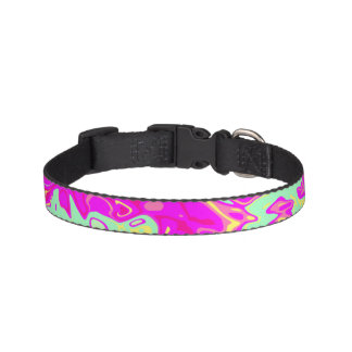 Bright Marbleized Colors Design on Dog Collar