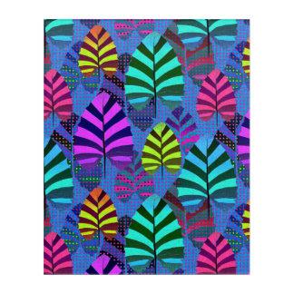 Bright Modern Leaf Pattern 437 Acrylic Wall Art