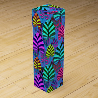 Bright Modern Leaf Pattern 437 Wine Gift Box