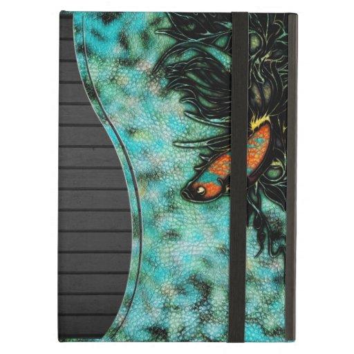 Bright Orange and Blue Beta Fish iPad Folio Case
