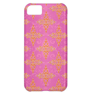 Bright Orange and Pink Double Damask iPhone 5C Case