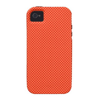 Bright Orange and Red Mini Polka Dots Pattern iPhone 4 Case