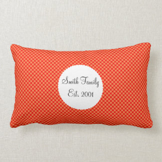 Bright Orange and Red Mini Polka Dots Pattern Cushion