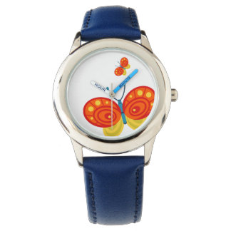 Bright Orange and Yellow Butterfly Watch
