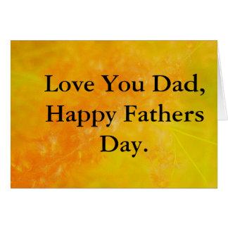 Bright Orange Fathers Day Card