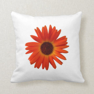 Bright Orange Gerbera Daisy Cushion