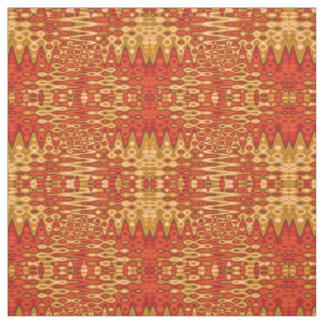 Bright Orange Gold Abstract