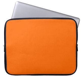 Bright Orange Solid Color Laptop Computer Sleeves