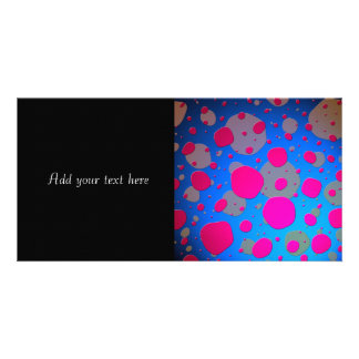 Bright Pink and Blue Modern Art Photo Greeting Card