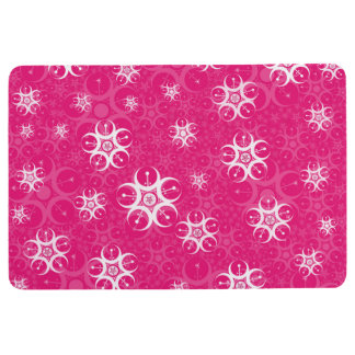 Bright Pink Crop Circle Floor Mat