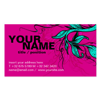 Bright pink/cyan Card Business Card Templates