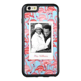 Bright Pink Flamingos | Add Your Photo & Name OtterBox iPhone 6/6s Plus Case