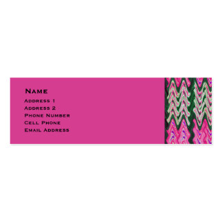 Bright Pink Green Abstract Double-Sided Mini Business Cards (Pack Of 20)