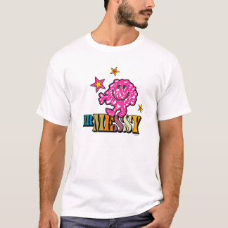 Bright Pink Mr. Messy | Sparkling Stars T-Shirt